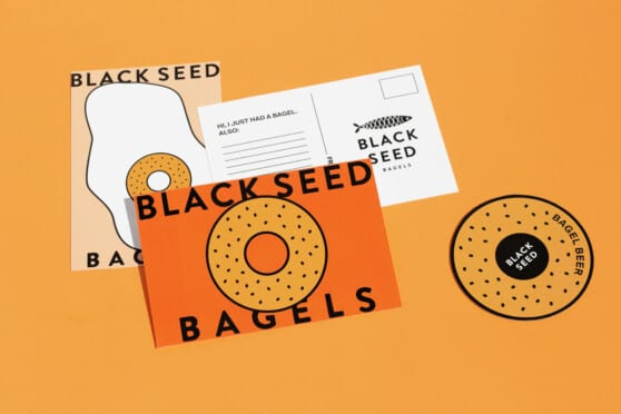 logos and designs for black seed bagels