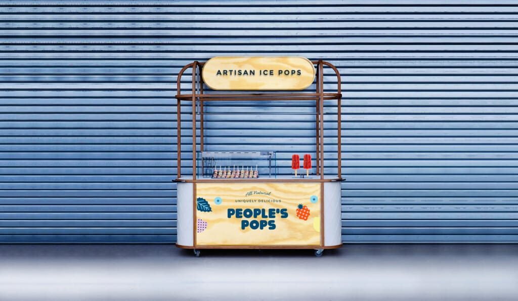 artisan ice pops stand