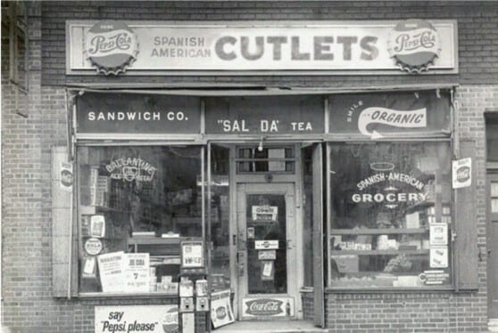 old picture of a grocery store called Cutlets