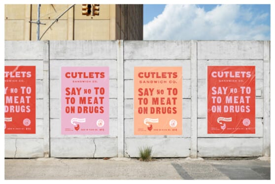 cutlets posters on a wall