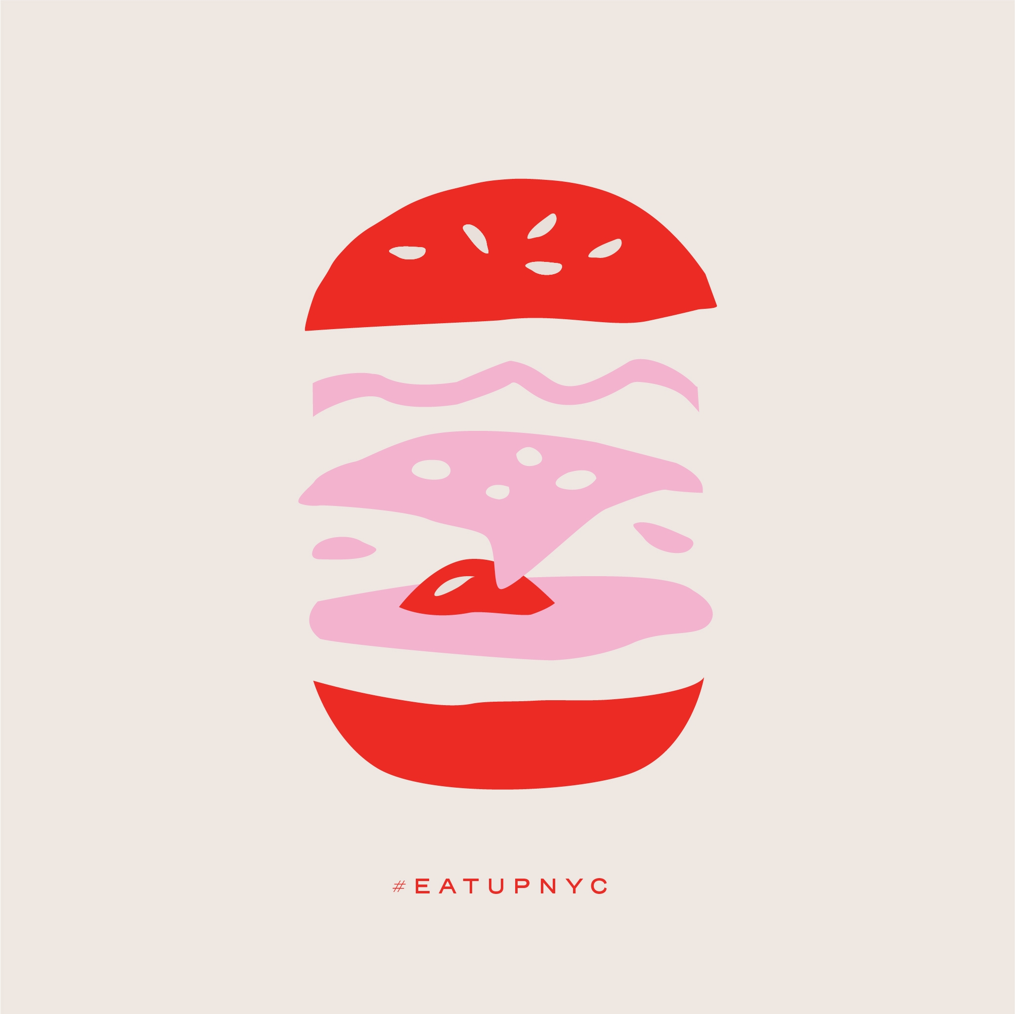 a burger graphic