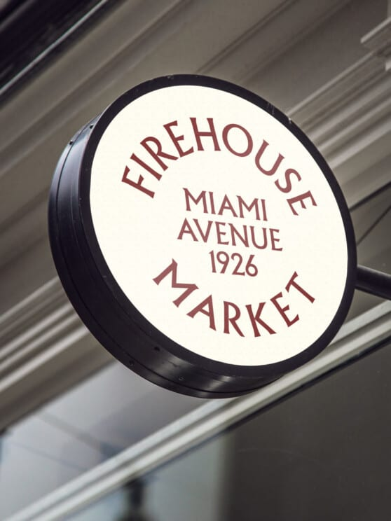 firehouse market name graphic on a sign