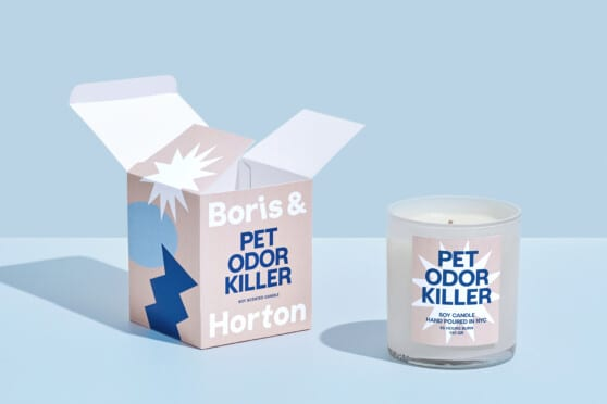 pet odor killer packaging from Boris & Horton