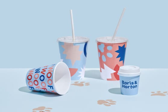 boris & horton branded cups