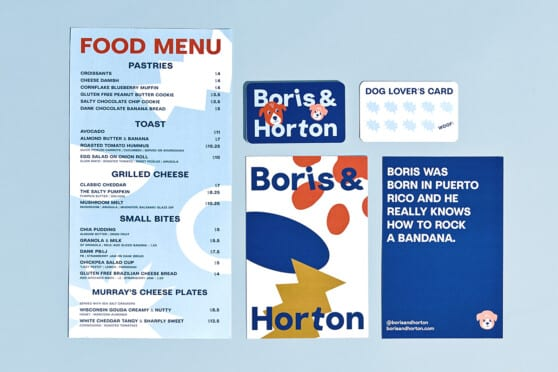 boris & horton menus and graphics