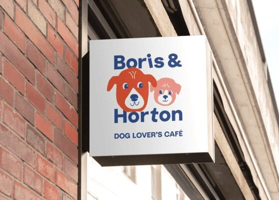 boris and horton store front sign