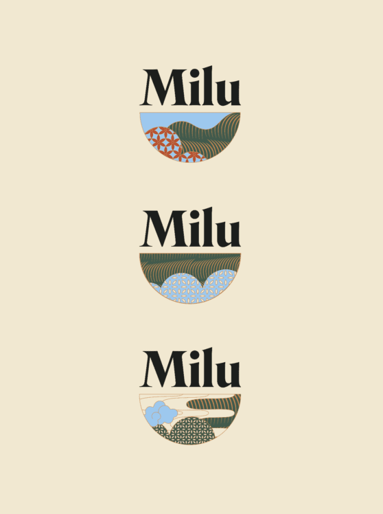 milu bowl shaped logo design
